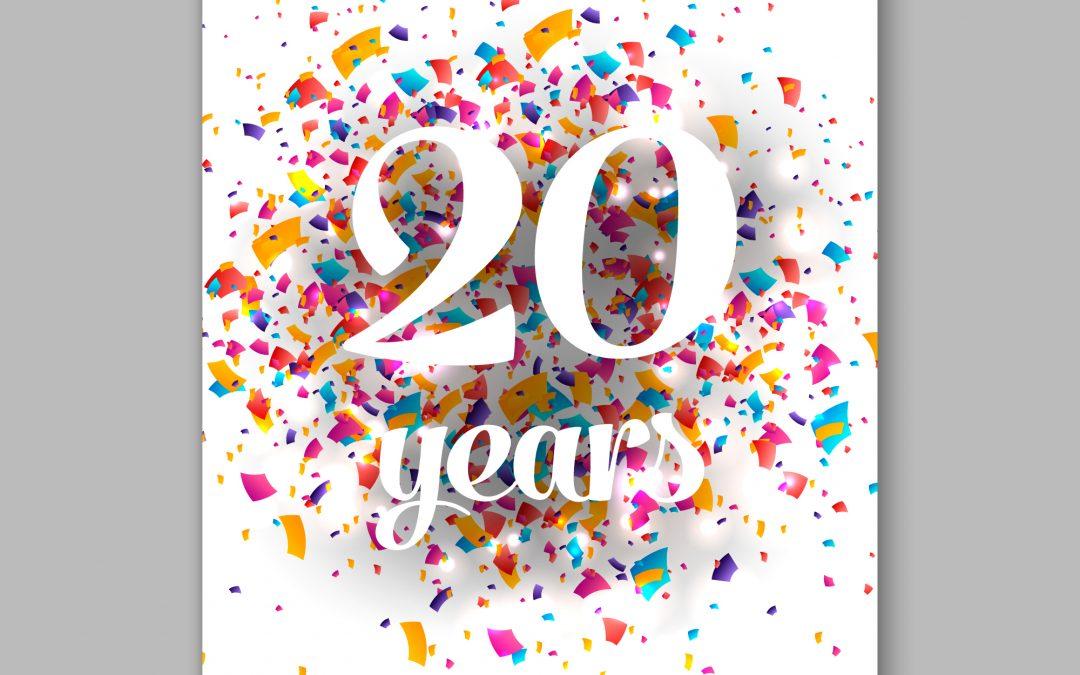 We Turned 20!